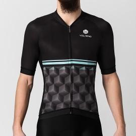 Koszulka Kolarska Cubes Black