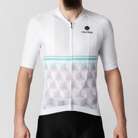 Koszulka Kolarska Cubes White